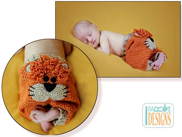 Silly Creatures Alien Frog and Lion Pants PDF Crochet Pattern