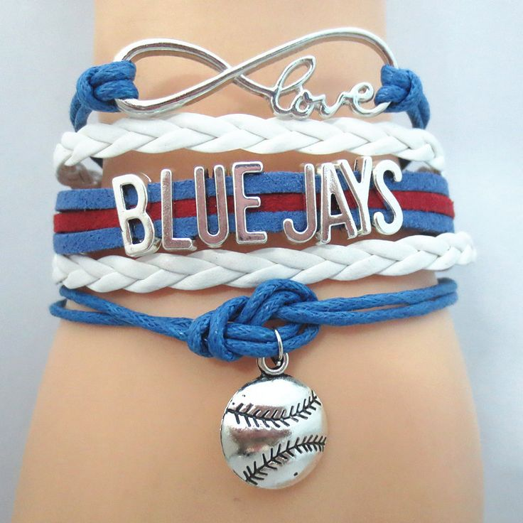 Infinity Love Toronto Blue Jays Baseball - Show off your teams colors! Cutest Love Toronto Blue Jays Bracelet on the Planet! Don't miss our Special Sales Event. Many teams available. www.DilyDalee.co