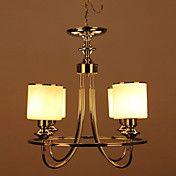 Chandelier, 4 Light, Modern White Iron Glass ... – EUR € 207.89