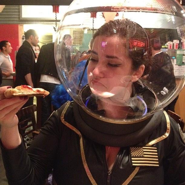 Handmade retro sci-fi astronaut and alien costumes  sc 1 st  Pinterest & 77 best Halloween images on Pinterest | Halloween couples Halloween ...