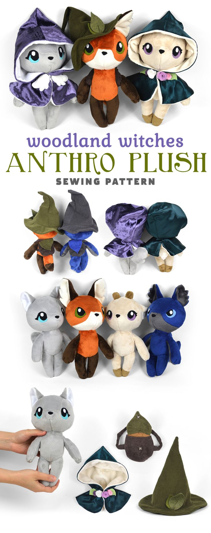 New Shop Pattern! Woodland Witches Anthro Dolls | …