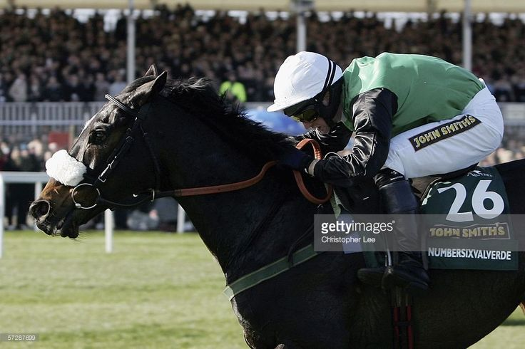 Jockey Niall Madden riding Numbersixvalverde wins the John Smith's Grand National Steeple Chase at Aintree Racecourse on April 8, 2006 in Aintree, England.