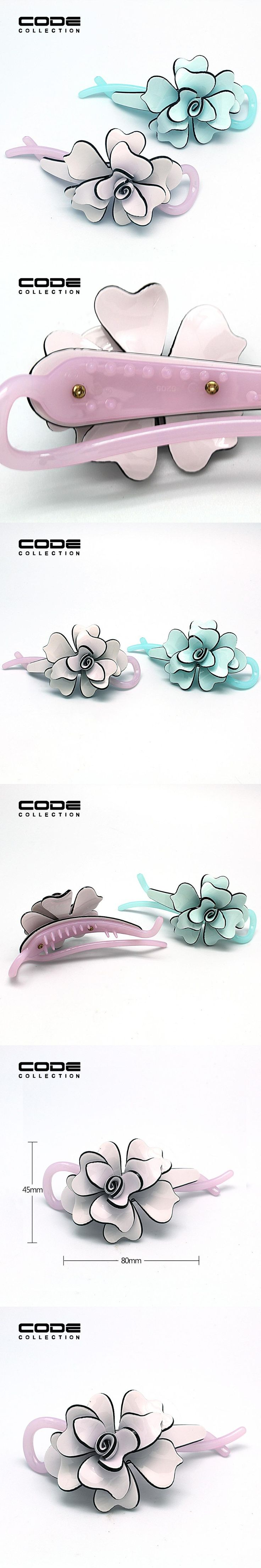 Top Quality Acrylic Banana Clip Barrettes Elegant Paisley Hair  Hairpins Clip Accessories Handmade Antique Jaw Clamp for Women