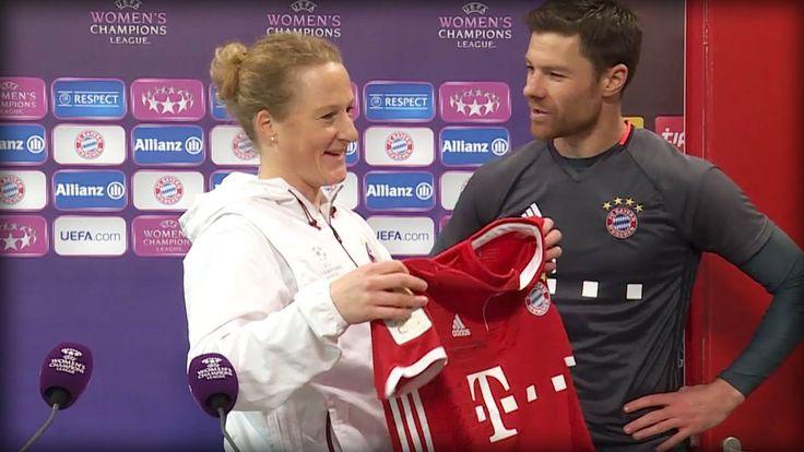 Heute um 19 Uhr trifft der FC Bayern Frauenfußball im Viertelfinal-Hinspiel der UEFA Women's Champions League auf PSG - Paris Saint-Germain. Und Gentleman Xabi Alonso machte dem großen Alonso-Fan Melanie Behringer auf der PK eine riesige Freude!