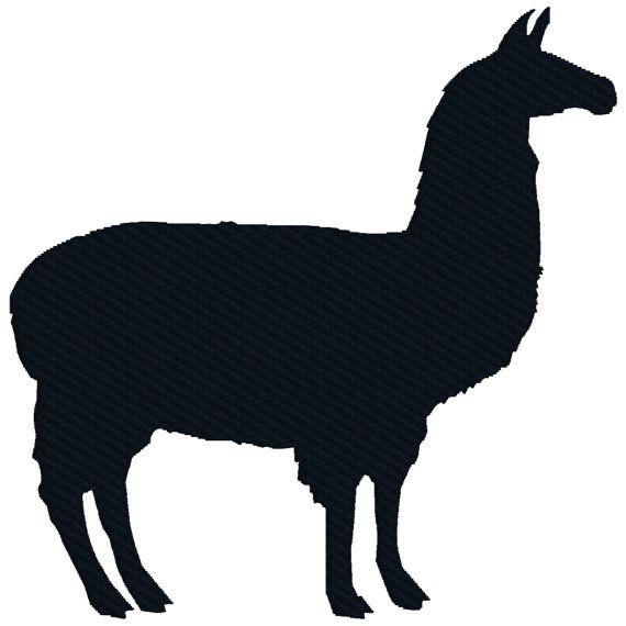 Buy 2 Get 1 Free Llama Silhouette Barnyard Animal Machine