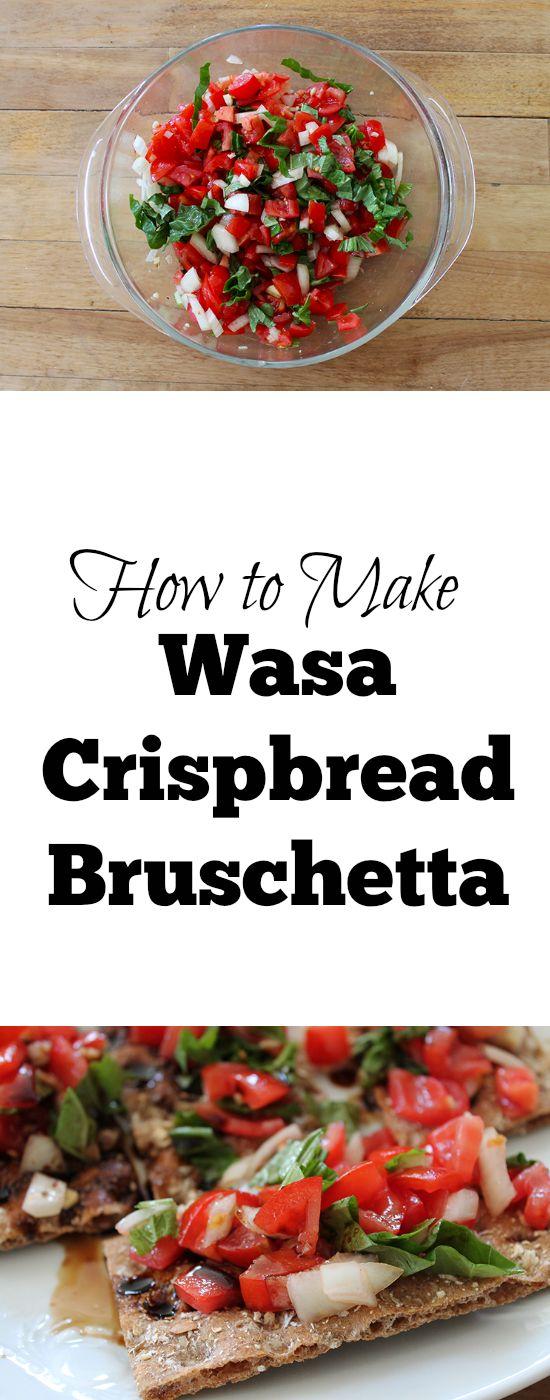 Make these SUPER easy and DELICIOUS Wasa Crispbread Bruschetta! #sp @Walmart @BarillaUS #BarillaPlus #BarillaGlutenFree