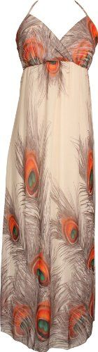 Chiffon Peacock Maxi Dress Junior Plus Size