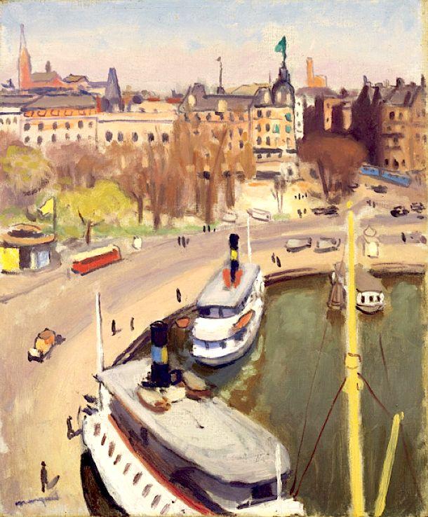 Albert Marquet (1875-1947) - Le port de Stockholm