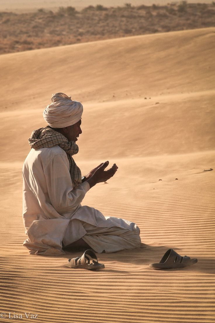 In Prayer - Thar desert, India