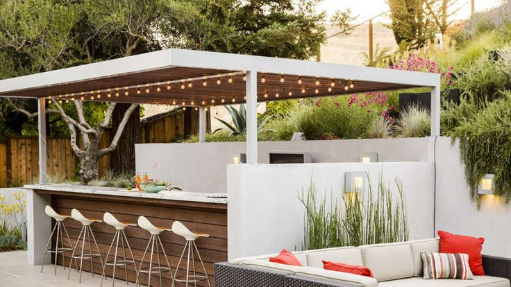 Form an outdoor room