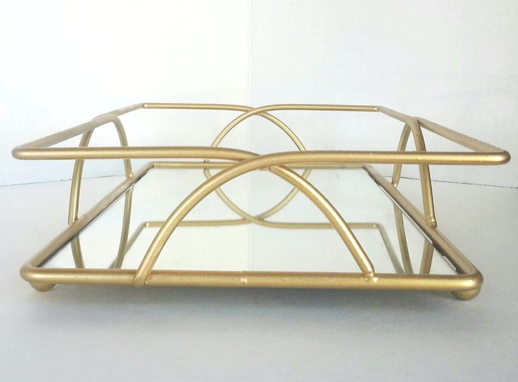 Vanity Tray Gold Mirrored Bathroom Decor Bar By 222LaneDecor 2220