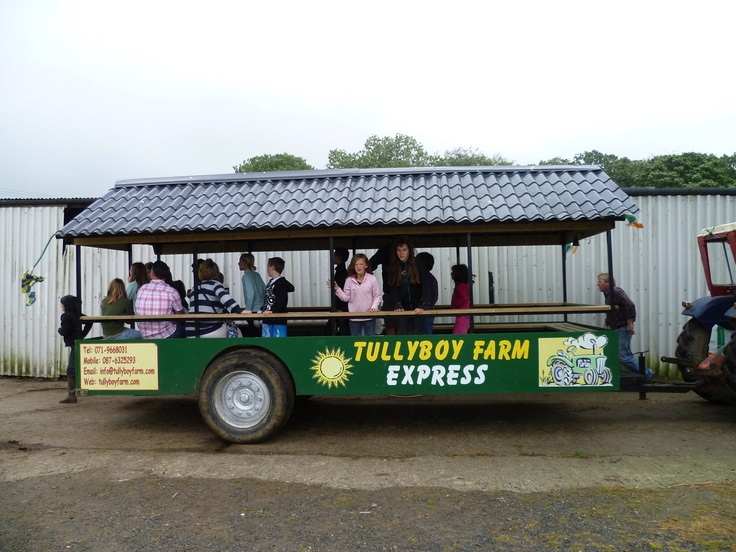 Have a roller coaster Tractor Trailer Ride down the farm and feed the horses and foals.  A little scary for those of you not used to travelling on bumpy fields but quite safe!