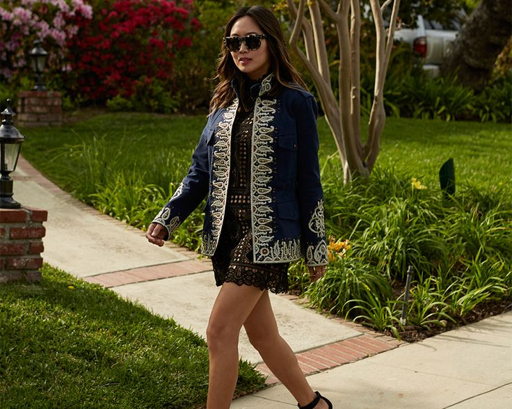 The Fay Field Jacket with precious paisley embroidery is the perfect partner for a Los Angeles girl! Shop now: http://store.fay.com/Fay/IT/c/119-Fay   www.fay.com