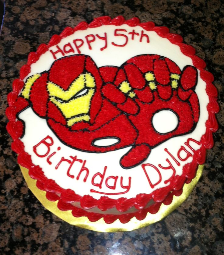 Loved this cake for my little boy's Iron Man party! I ordered it from A Piece of Cake Utah, in Springville. She was so awesome, even with short notice! I still crave this cake, it tasted so good!