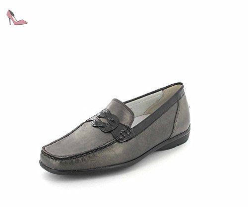 Waldl?ufer Hurly, Chaussures à Lacets Femme, (Memphis Velour Velour Softlack Asphalt), 42.5 EU