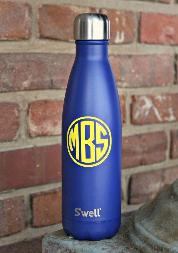 Monogrammed S'well Bottles Sorority by DarlingCustomDesigns