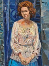 Portrait of a Woman Gelsy Adam by Spada Costantino