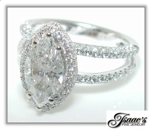 Marquise diamond ring with halo and split shank band... im in love!