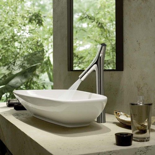 Vessel faucets are sleek and elegant, and typically have a lever handle. http://www.ybath.com/blog/how-to-choose-a-modern-bathroom-faucet/ #YinTheWild