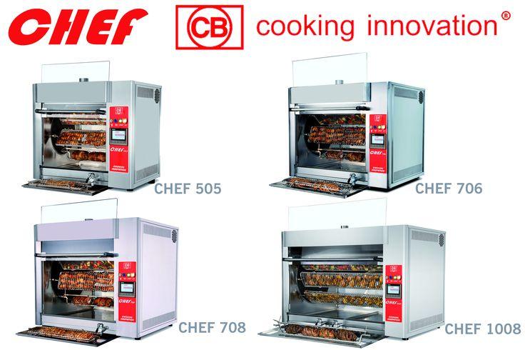I modelli di CHEF #CBcookinginnovation #cotturainfrarosso