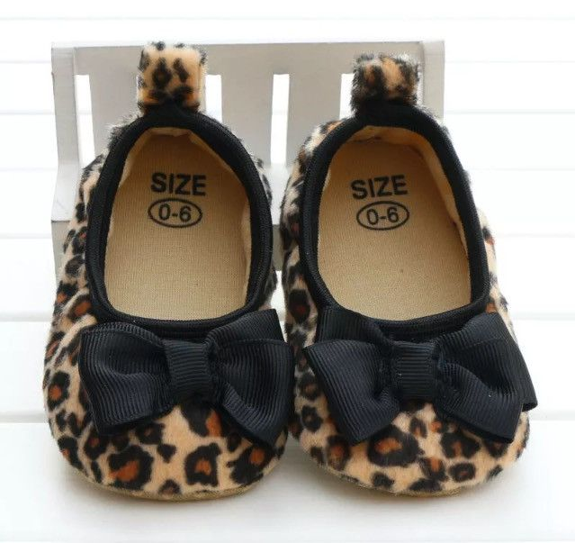 Leopard Baby girl Shoes With Bow