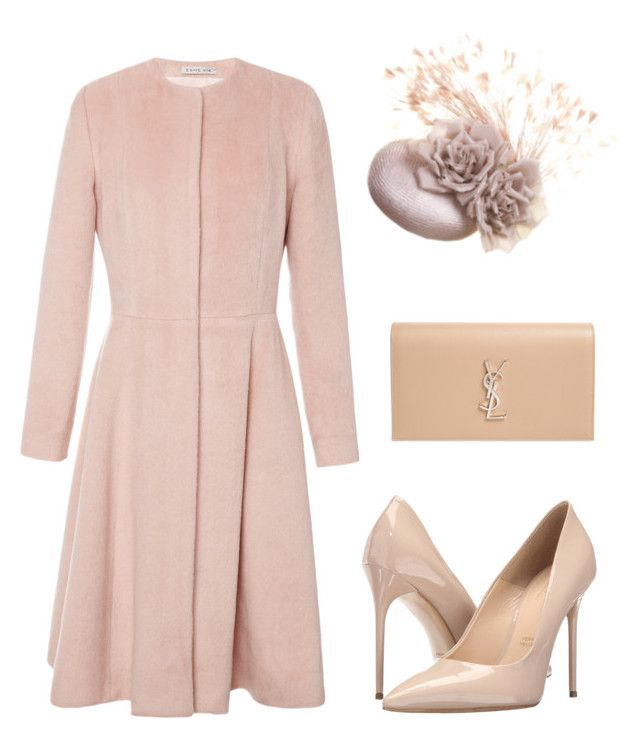 """Royal Ascot: nude"" by laurenharty ❤ liked on Polyvore featuring Esme Vie, Massimo Matteo and Yves Saint Laurent"