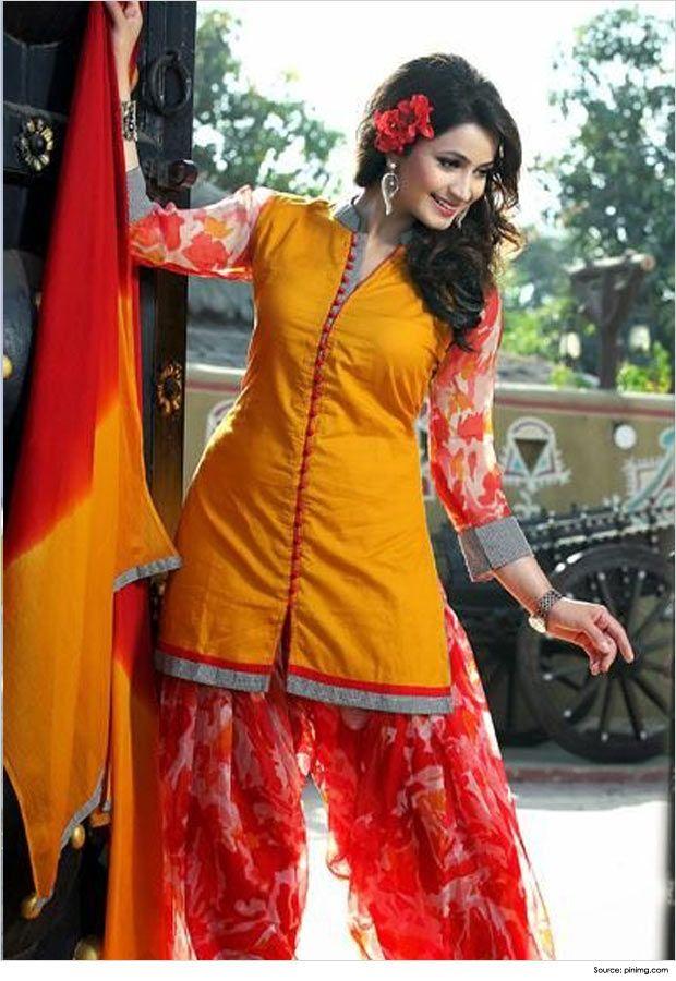 VShape Salwar Suit Neck Designs