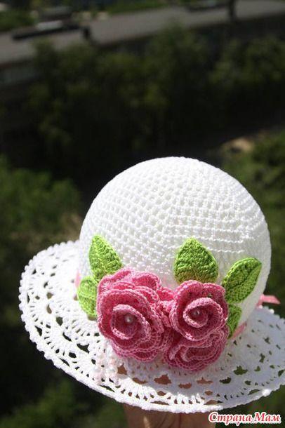 Вяжем белую шапочку с розой на лето!!! Присоединяйтесь! - Вяжем вместе он-лайн - Страна Мам