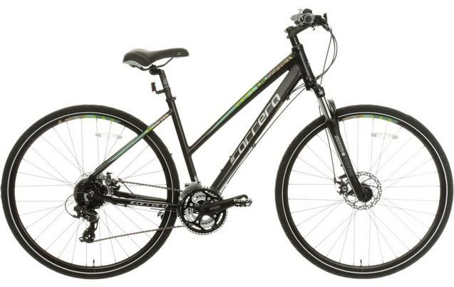 Carrera Crossfire 2 Womens Hybrid Bike Black S M L Frames