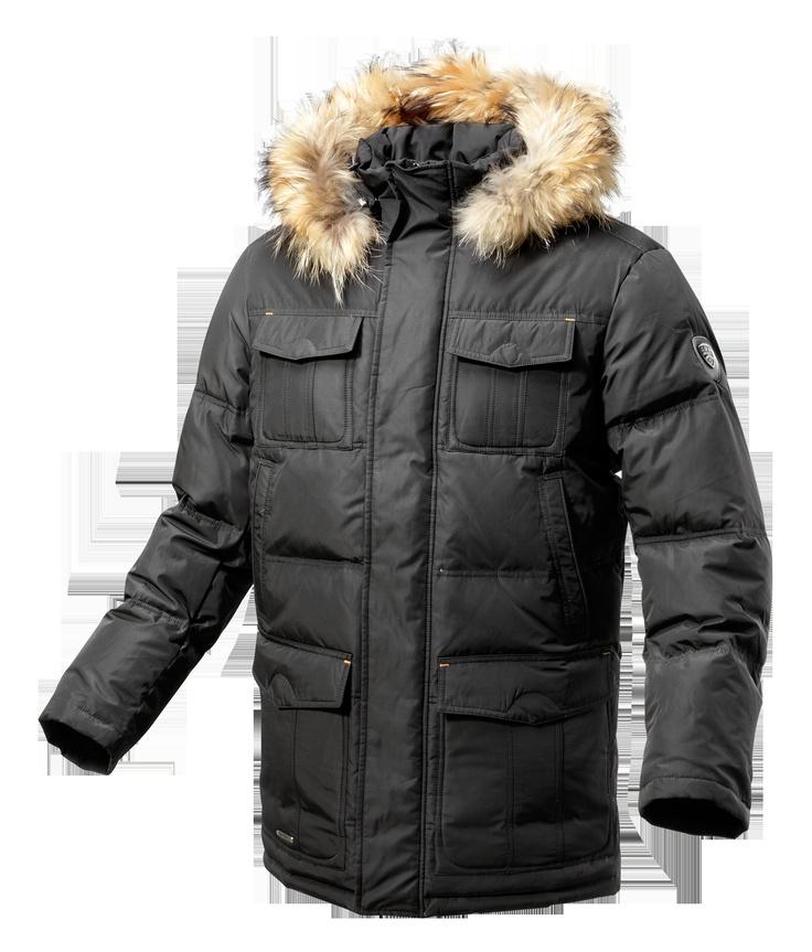 LOCKER - BLACK  Long down jacket (90% down, 10% feather) perfect for very cold weather.  €330.00    __    LOCKER - NOIR  Doudoune longue homme (90% duvet, 10% plume) parfaite pour le grand froid.  330.00 €