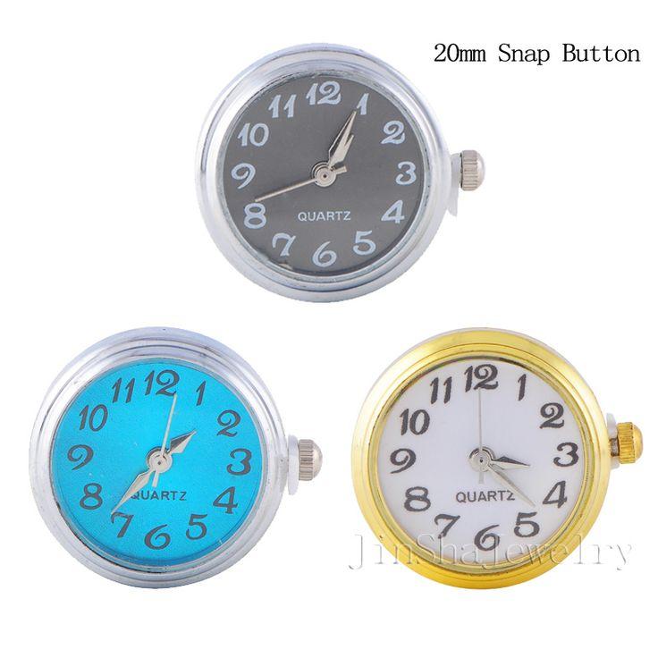 Wholesale 6pcs lot Fashion Watch Snap Bracelet Fit 20mm Snap Button Jewelry Interchangeable Button Pendant Free