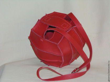 Женские сумки ручной работы. Ярмарка Мастеров - ручная работа. Купить Сумка-мяч.. Handmade. Ярко-красный, сумка-мяч