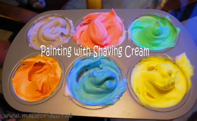 Shave cream painting...