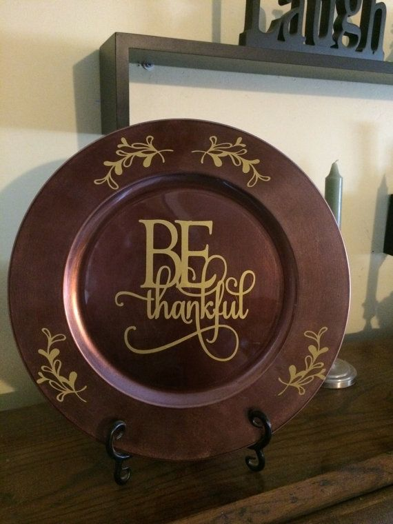 Be Thankful Charger Plate by PBCreativeDesigns on Etsy