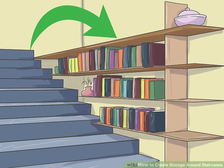 How to Create Storage Around Staircases http://www.wikihow.com/Create-Storage-Around-Staircases?utm_content=buffer86152&utm_medium=social&utm_source=pinterest.com&utm_campaign=buffer
