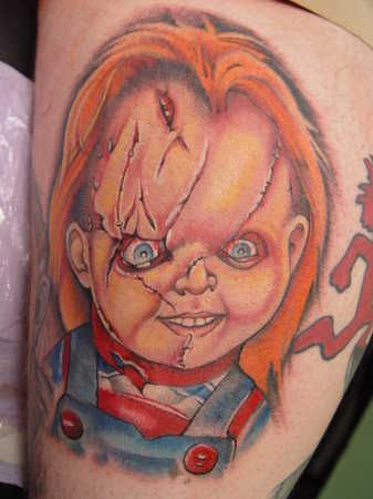 Seed of chucky tattoos childs play on pinterest 40 for Bride of chucky tattoo