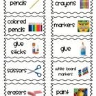 These classroom labels are designed for the primary classroom. Kid friendly labels include pictures and words for classroom materials for items lik...