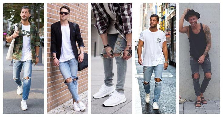 Τα σκισμένα jeans είναι και πάλι Hot!! Βρες αυτό που σου ταιριάζει και συνδύασέ το: ↠ Με jacket τύπου army ↠ Με μαύρο σακάκι ↠ Με καρό πουκάμισο ↠ Με απλό t-shirt & sneakers ↠ Με Birkenstock Διάλεξε το δικό σου jean εδώ!
