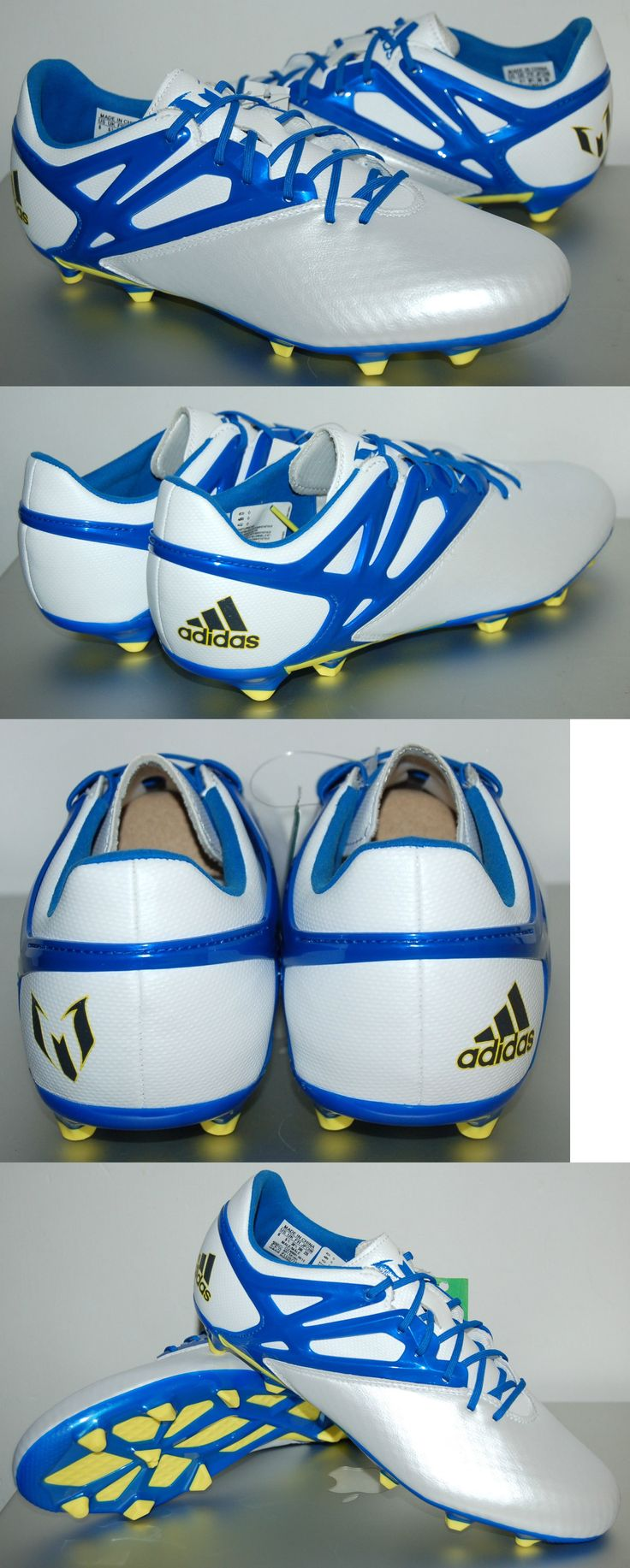 Youth 159177: Adidas Messi 15.1 Firm/Artific Soccer Shoes, S81491, White/Blue, Us Youth Sizes -> BUY IT NOW ONLY: $55.0 on eBay!