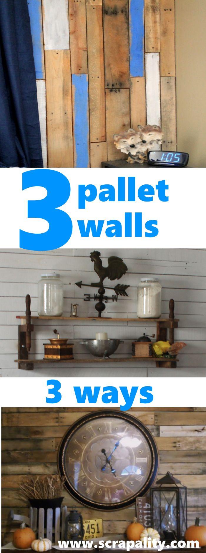 3 Pallet Walls 3 Ways 68 best