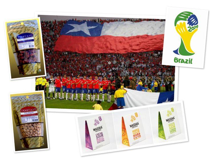 La cábala del mundia... VAMOS CHILE A GANAR!! con #wasska y #tostani, vamos a triunfar!!  #elmejordistribuidor #piscosour #seleccionchilena #mundialbrasil #futbol #worldcup #mani #almendras #frutossecos #distribuidoraarenillas #pisco