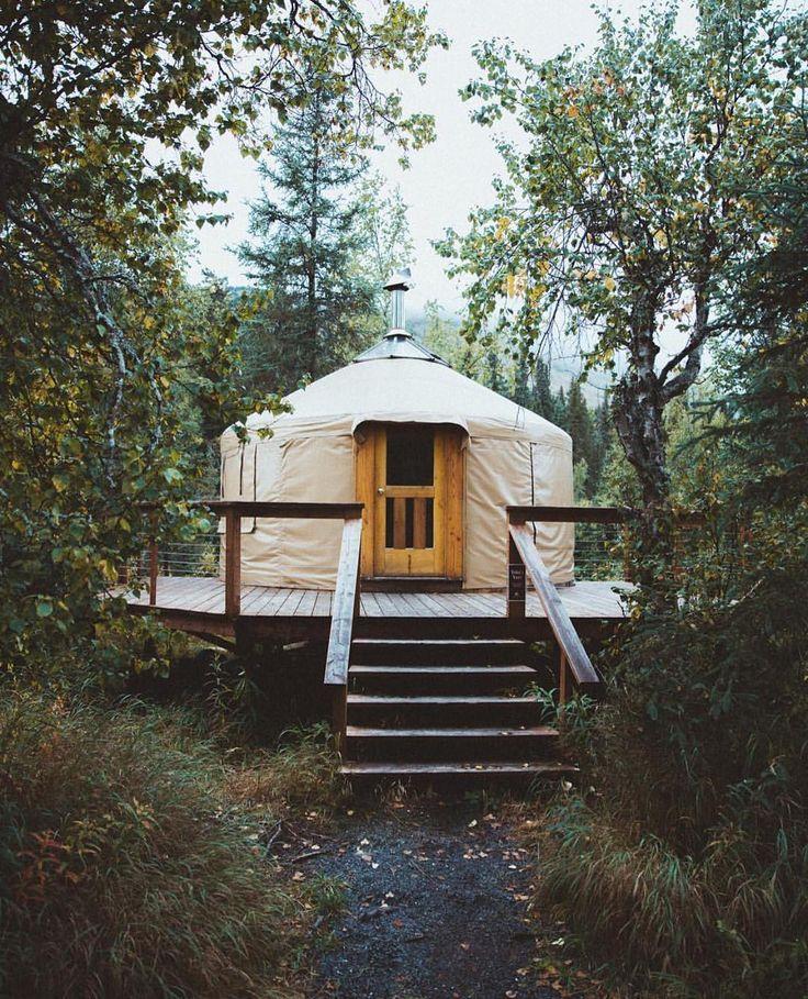 CABINOLOGY : Photo. It's a modern yurt tent.