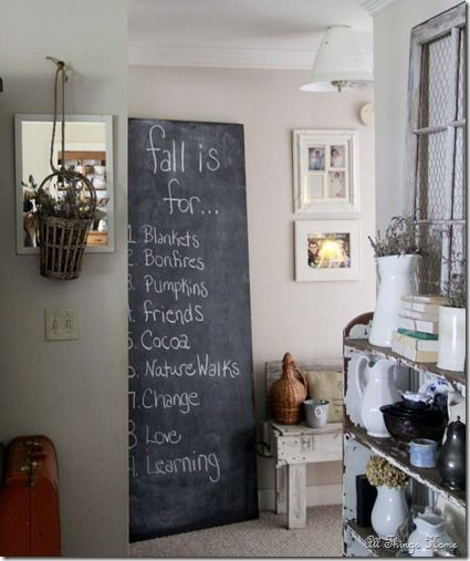 All Things Home: Coffee Table and Chalkboard