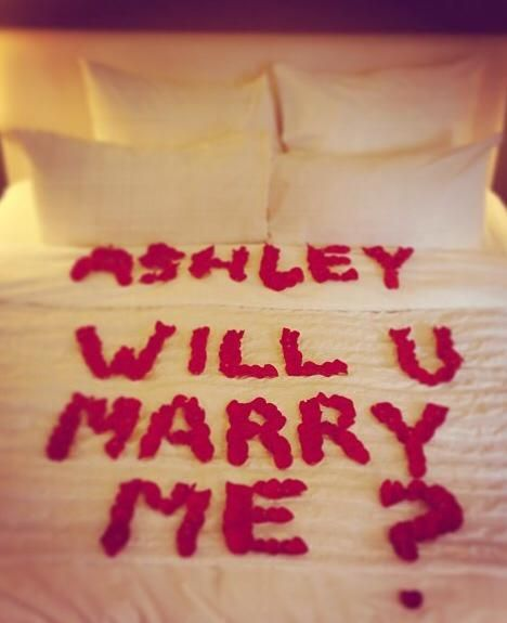 Adams Red Rose Petal Proposal To Ashley Is So