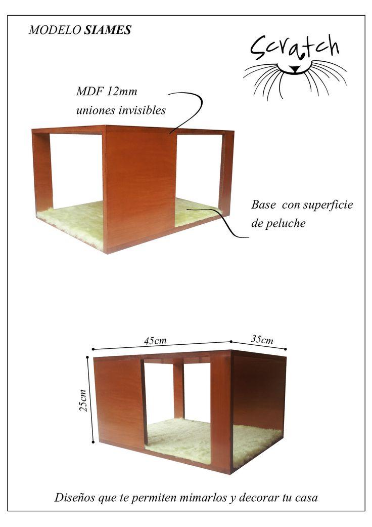 Modelo SIAMES, diseño con madera revestido en peluche. Muebles Scratch