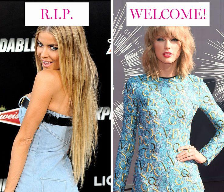 . Le extension un po' folli  Questa lunghezza è perfetta per imitare la treccia laterale della principessa Elsa, ma quest'anno la tendenza dice di badare alla consistenza, di preferire il corto, un taglio chic e, magari, prendere spunto da Taylor Swift. 2015
