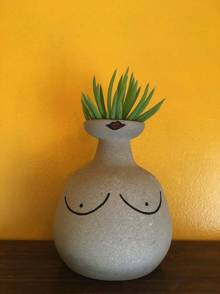 Cute hand painted vase