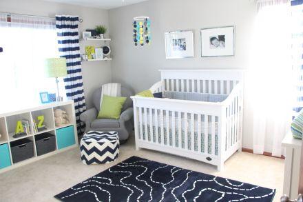 Simon's Nursery Reveal | little boy nursery | navy green & gray | diy nursery projects | nursery décor | nursery closet | thisisourbliss.com