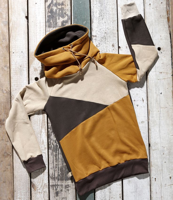 Orange, brown and beige high neck pullover Crema by Bosis