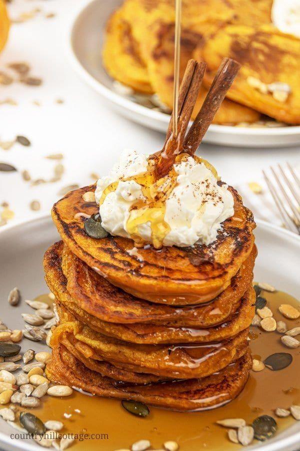 Easy Healthy Pumpkin Pancakes Recipe Vegan & Gluten Free – #Easy #Free #gluten #…   – https://site11.uyydu.com